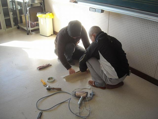 床クロス張替え塗装工事写真