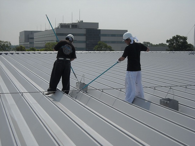 屋根塗装工事写真