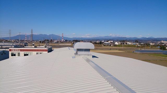 屋根遮熱塗装工事写真